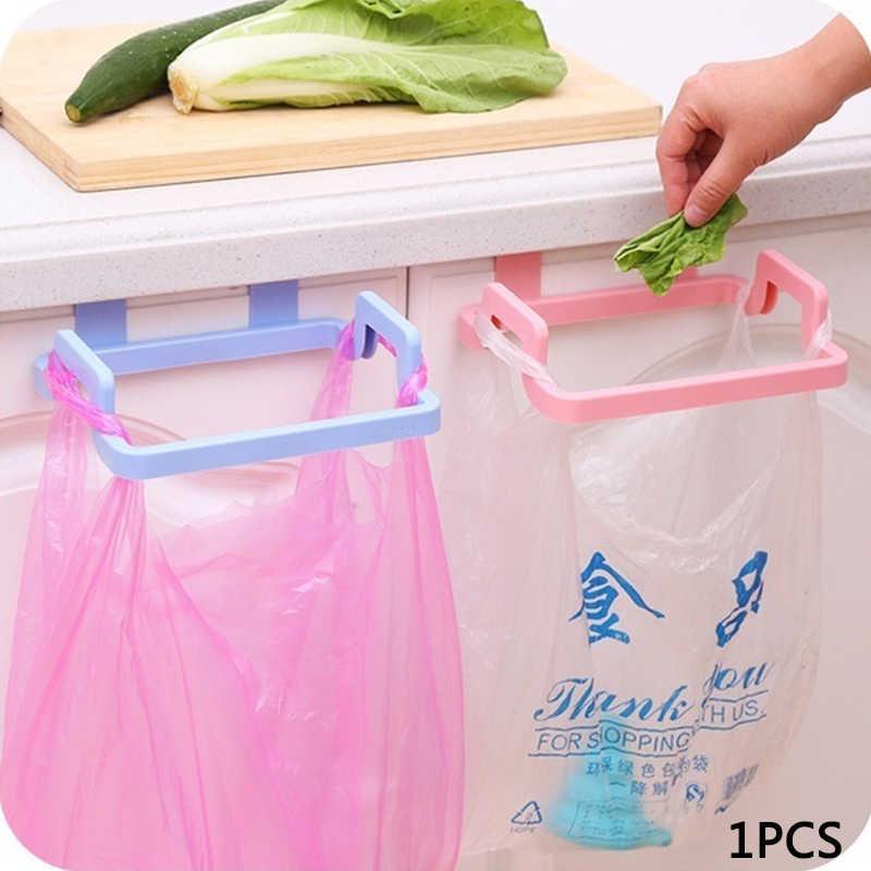 1 pc plástico saco de lixo rack portátil pendurado lixo saco de armazenamento rack titular cozinha gadgets armazenamento rack dropshipping