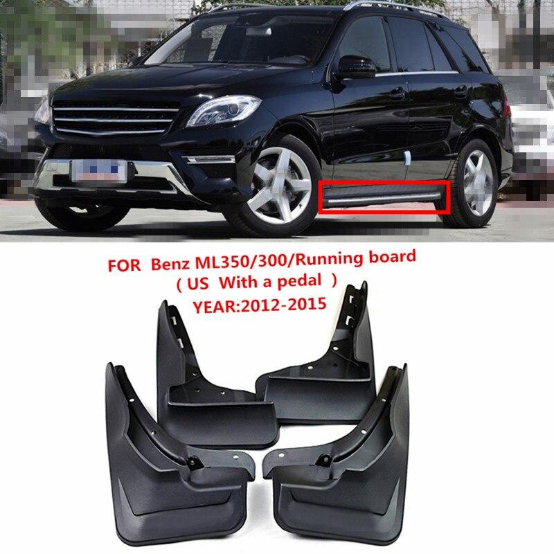 car Mudguards For Benz M Class W166 ML300 ML350 ML500 w running Board 2012 2013 2014