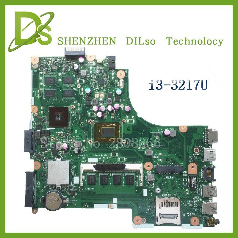 For ASUS X450CC Laptop Motherboard i3 3217u 2G video memory X450CC motherboard 4G RAM rev2.3 Test