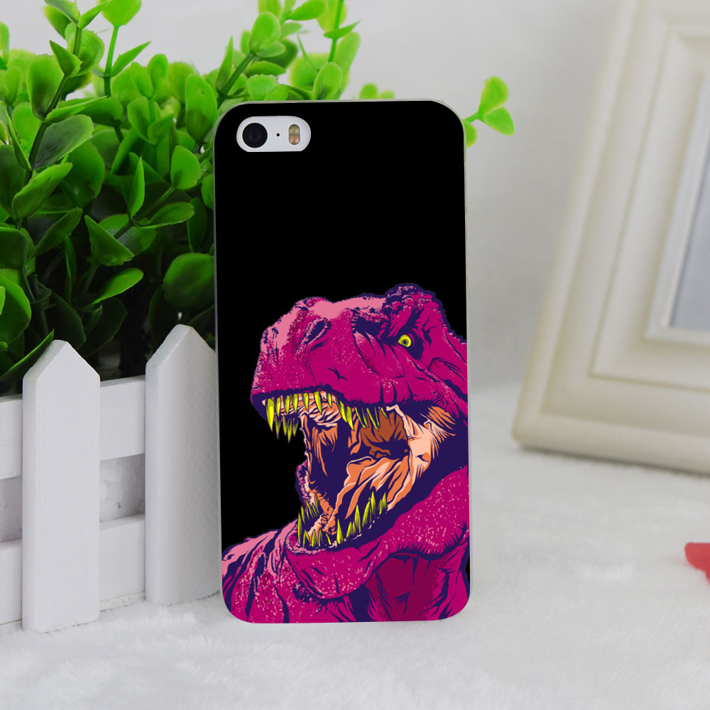 A2810 Dino Frenzy Transparent Hard Thin Case Cover For Apple iPhone 4 4S 5 5S SE 5C 6 6S 6Plus 6s Plus