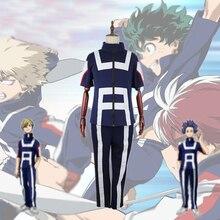 My Hero Academia Boku no Hero Cosplay Costume Delle Donne Degli Uomini di Scuola Uniforme Tuta Da Ginnastica Pantaloni Maglietta Midoriya Izuku Todoroki Shouto