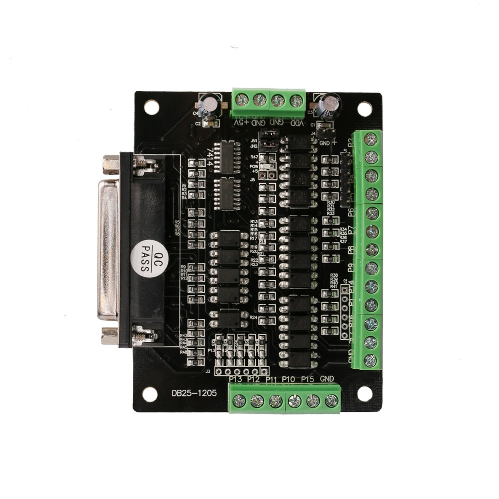 German Free ship 1PC breakout board DB25 for cnc router kits milling engraver cable LONGS MOTOR