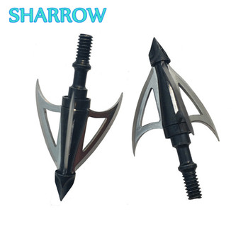 6/12Pcs 100 Grain Archery 3 Fix Blade Broadhead Arrowhead Steel Arrow Tips Screw-In Arrow Head For Shooting Archery Accessories 3 6 12pcs 100gr archery blade arrowhead stainless steel broadheads target arrow point tips hunting shooting accessories