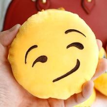 1 pc Cute Emoji Emoticon Soft Stuffed Plush Yellow font b Toy b font Keychain Asquint