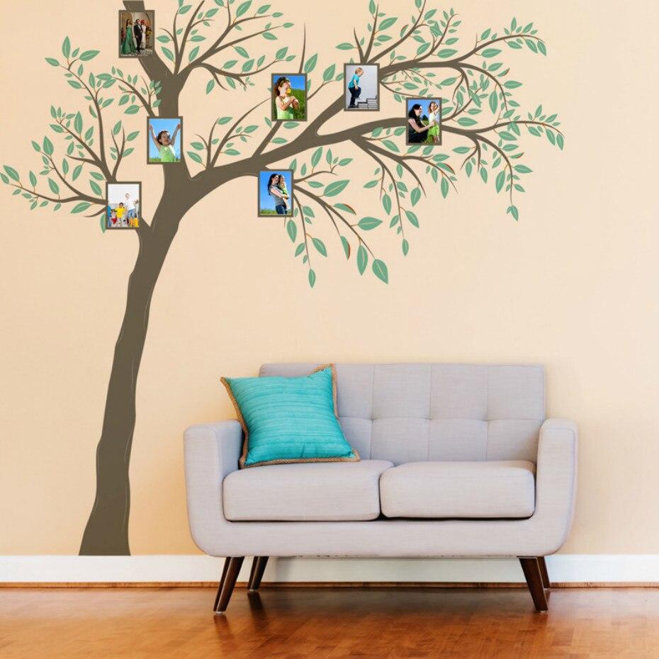 Sweet Modern Fashion Big Memory Photo Tree Vinyl Wall Stickers Sofa