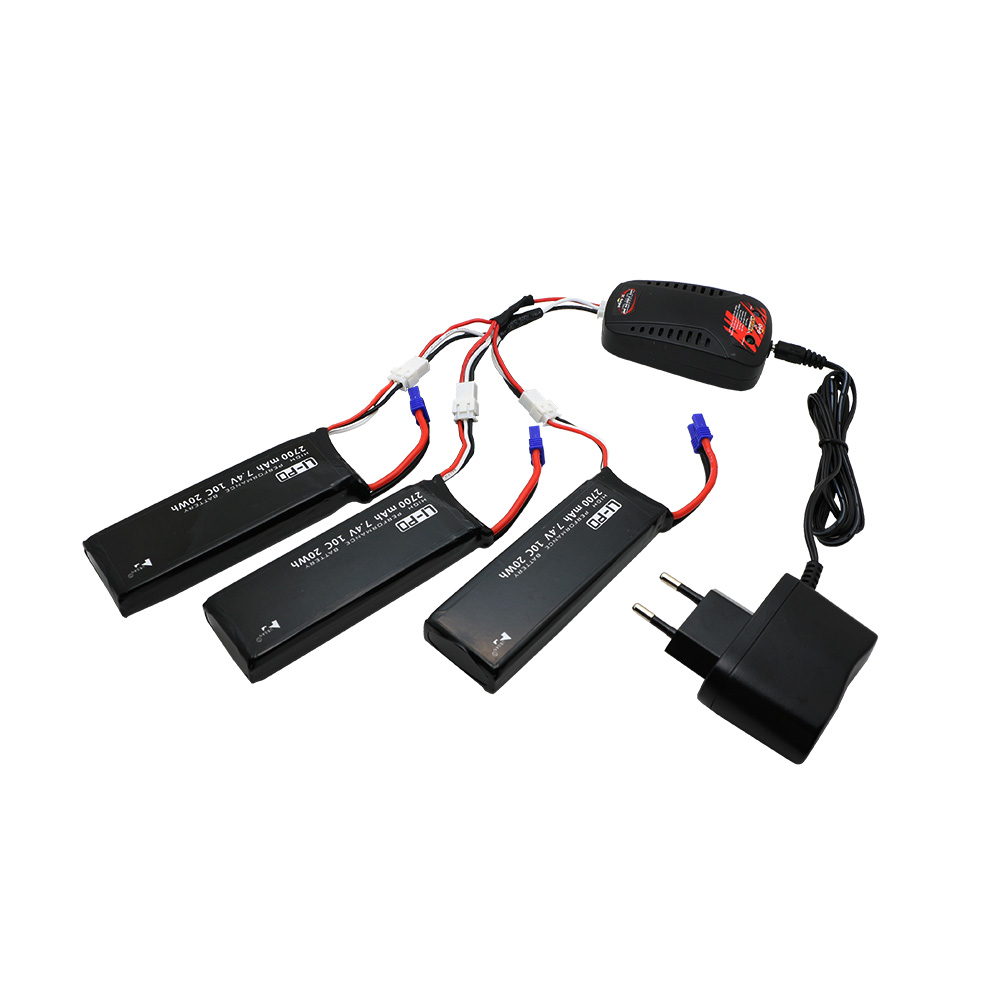 Hubsan H501S lipo battery 7.4V 2700mAh 10C Batteies 3pcs with cable for Hubsan H501C rc Quadcopter Airplane drone Spare Parts hubsan h501s x4 rc battery 7 4v 2700mah 10c rechargeable lipo batteies for hubsan h501c quadcopter airplane drone spare parts