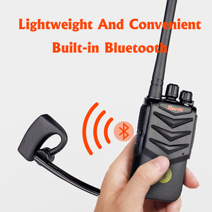 Image 2 - Walkie Talkie Hands free Bluetooth Headset Wireless Earphone Handheld Two Way Radio Wireless Headphones Buletooth Earpiece