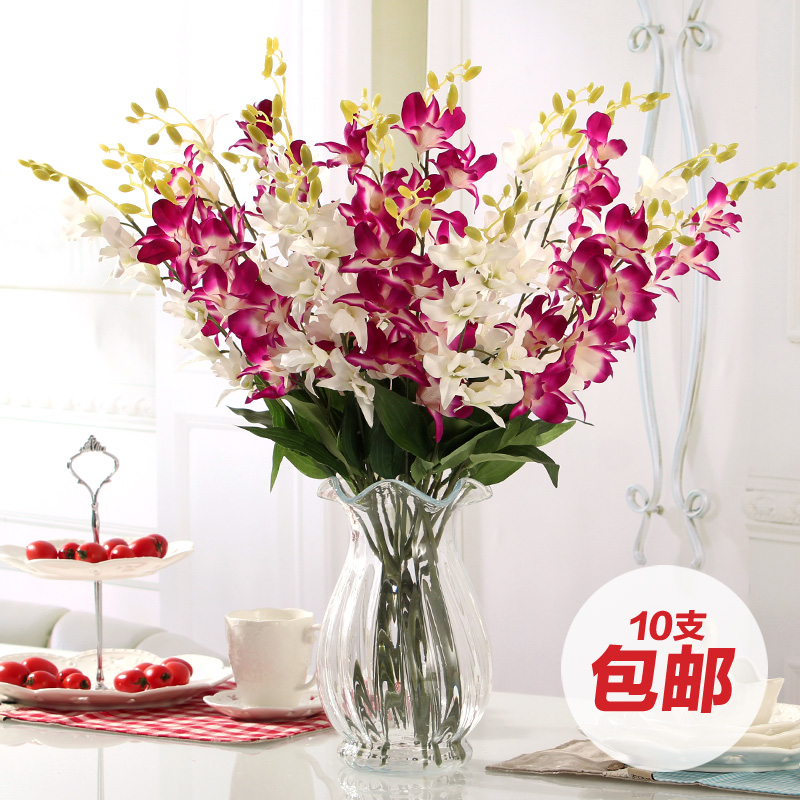 flower decoration for living room 10 high artificial single orchid sword artificial flower 22874