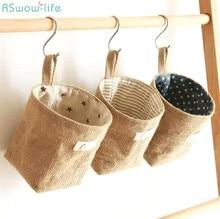 Cotton And Linen Receipt Bag Door Behind Wall Desktop Sundry Home Organization Storage Office Handmade