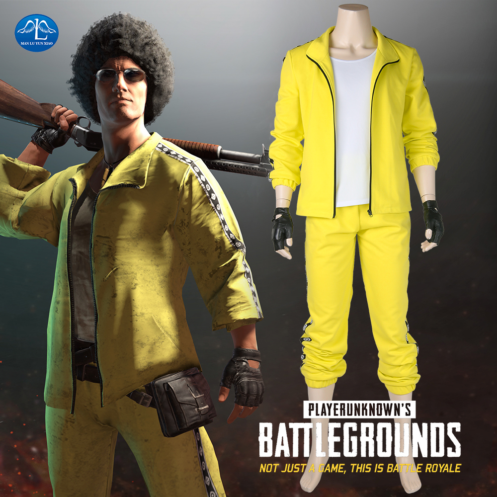 New Hot Game PUBG Cosplay Costume PLAYERUNKNOWN'S BATTLEGROUNDS Costume Men Halloween Leisure Style Full Set Custom Made