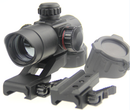 1X40 Tactical Optical Rifle Airsoft Gun Red Green Dot Sight Scope Optics With QD Quick Release Mount