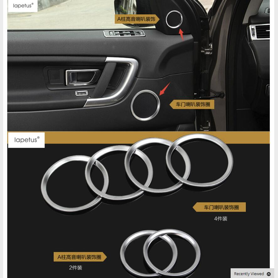Lapetus Accessories Fit For Land Rover Discovery Sport 2015 - 2019 ABS Side Car Door Audio Speaker Circle Ring Molding Cover Kit