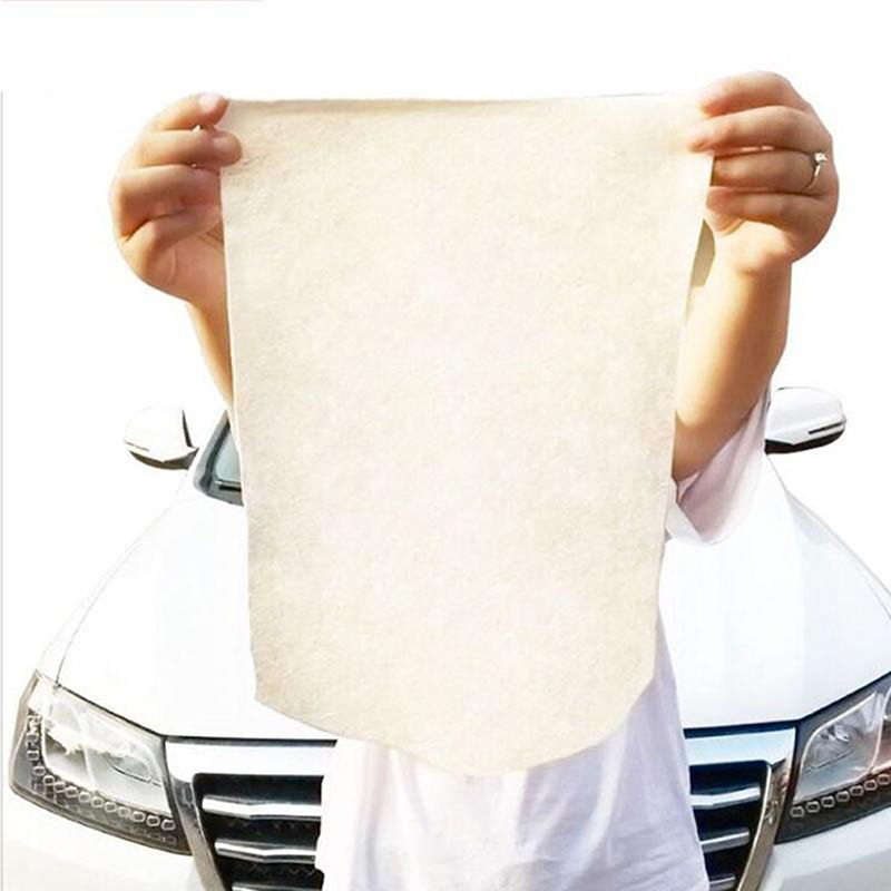 Auto Care Natural Chamois Car Cleaning Cloth Genuine Leather Wash Suede Absorbent Quick Dry Towels Car Cleaning Tools
