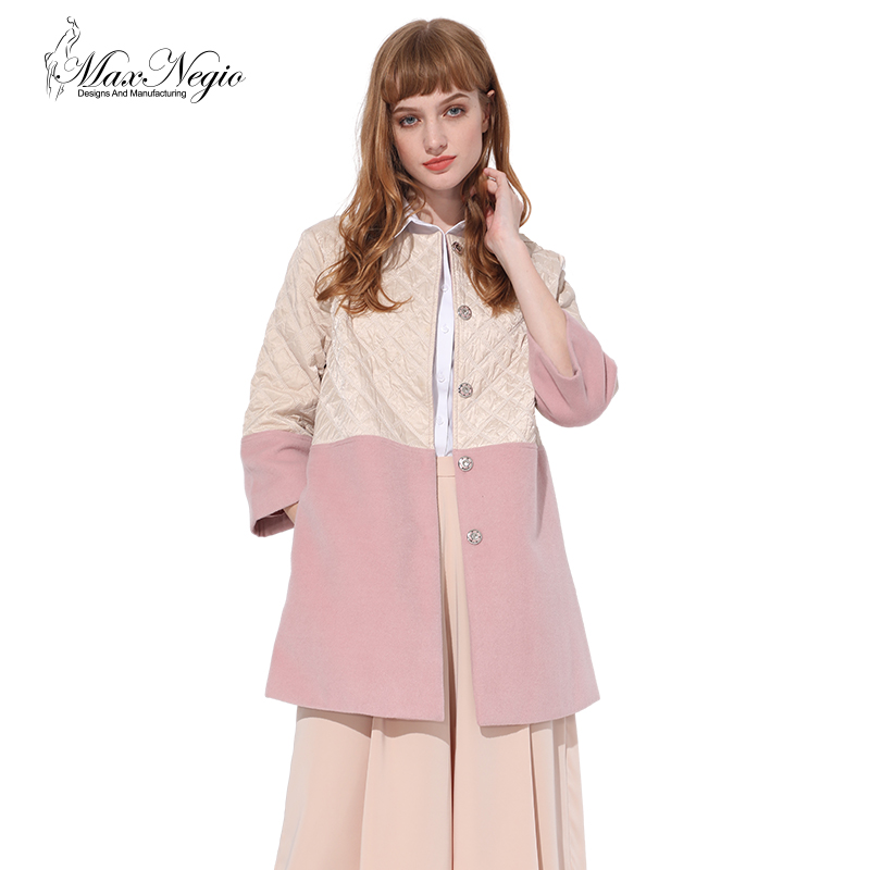 Maxnegio New 2017 Winter Jacket Women Stitching Cotton Warm Wool Coat Women Casaco Feminino Manteau Femme