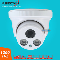 1 3 Sony CCD 960H Effio 1200TVL CCTV Dome Indoor Surveillance 2 Array Infrared White Security