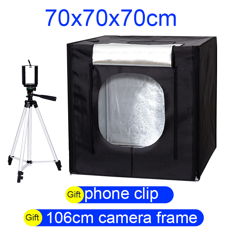 CY 70*70*70cm LED Photo Studio Softbox Shooting Light Tent Soft Box + Portable Bag + AC Adapter for Jewelry Toys Shoting