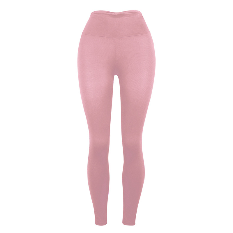 Kadın Tayt Spor Pantolon Sıcak Nefes ince pantolon Düz Renk Pembe Kırmızı Siyah Koyu Gri Pantolon Spor Legging