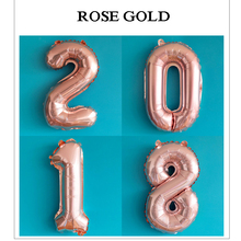 1 PCS Rose Gold Ballons Accessories Number For Wedding Party Decoration Birthday Aniversario Boys 32 Inches 40