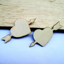 50x An arrow through a heart wood shapes home decoration wed