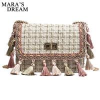 Mara's Dream 2018 Shoulder Bag Woman Tassels Colorful Chain Solid Retro Handbag Fashion Wild Mini Messenger Bag bolsas feminina
