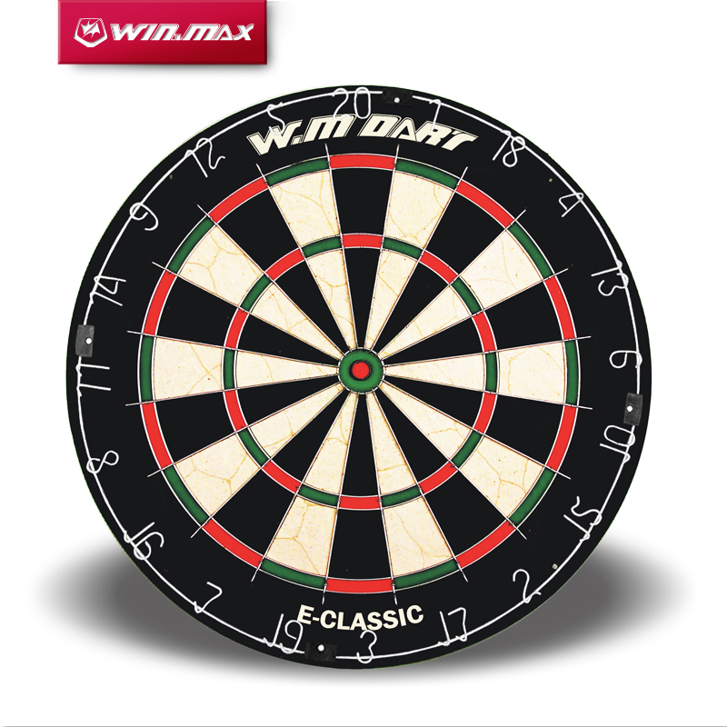 WINMAX Best Quality 18 Inch Round Wire System Professional Bristle Sisal Dart board for Match Play