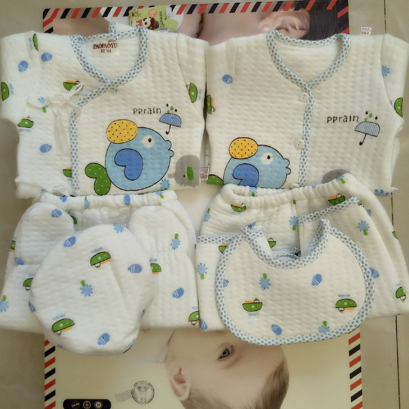 (6pcs/sets not box) newborn baby clothes cotton suit in the spring and autumn summer activities full moon baby born 0-6 months