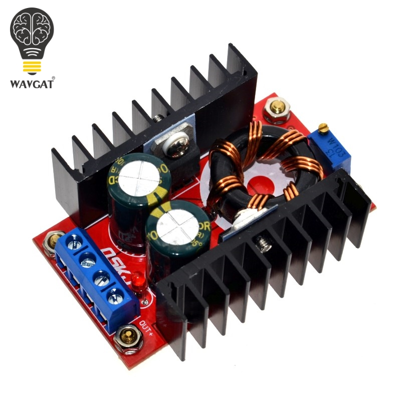 <font><b>150W</b></font> Boost Converter <font><b>DC</b></font>-<font><b>DC</b></font> 10-32V to 12-35V <font><b>Step</b></font> <font><b>Up</b></font> Voltage Charger Module Freeshipping Dropshipping WAVGAT image