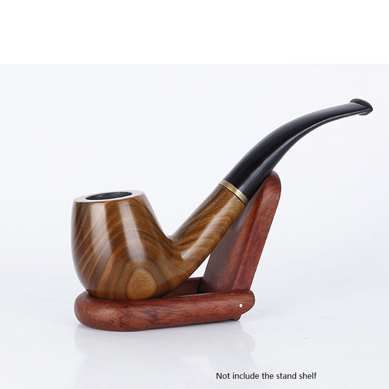 1pcs retail Creative wood tobacco smoking pipe wooden classic bent tobacco pipes high grade cigarette holder cigarette stems