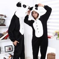 Free Shipping Furry Panda Animal Cosplay Pajamas Onesies Costume One Piece Adult Pyjamas Kigurumi Sleepwear For