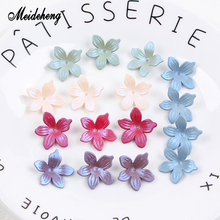 Acrylic Spraying Colorful Flower Charms Beads for Jewelry