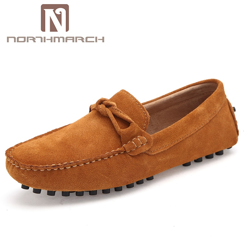 Spring Autumn Comfortable Men Loafers Casual   Suede     Leather   Shoes Slip On Shoes Moccasins For Man Chaussure Homme De Marque