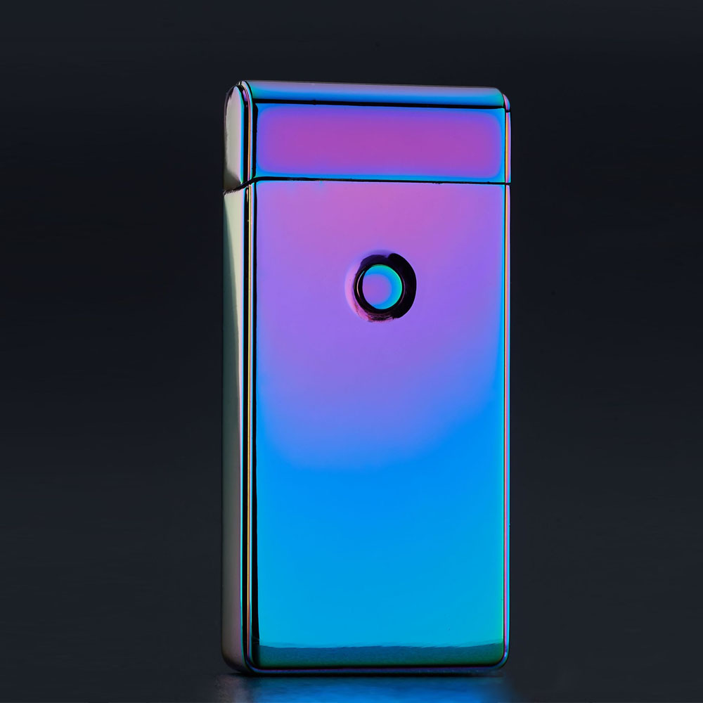 Windproof Metal Cigarette Lighter Electric Double Arc Lighter Electric Plasma Pulse USB Charging Cigar Smoking Lighter