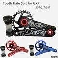 Улитка комплект Шатунов со звездочками колесо цепной передачи с рычагом 30 T 32 T 34 T 7075 CNC Горная дорога велосипед зуб пластины костюм для GXP XX1 X9...