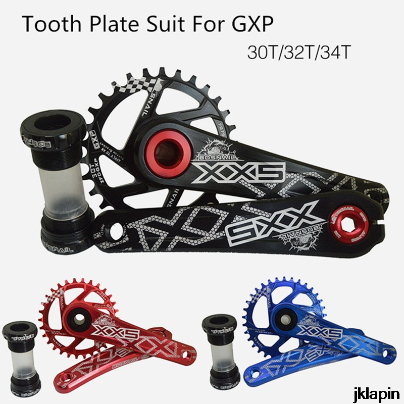 SNAIL Crankset Suit crank Chainwheel 30T <font><b>32T</b></font> 34T 7075 CNC Mountain Road Bike Tooth Plate Suit For GXP XX1 X9 XO X01 CNC AL image