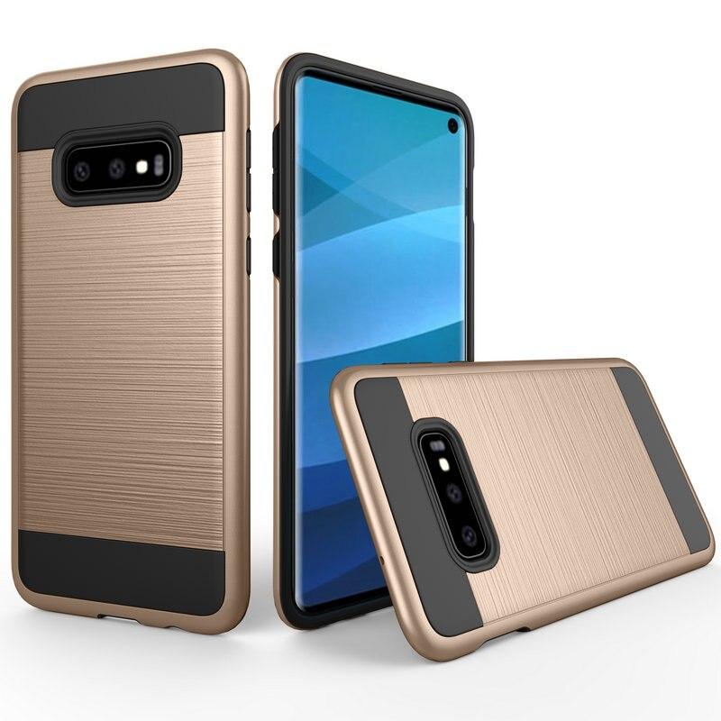 50 unids/lote para Samsung Galaxy S10 caso 2 en 1 extraíble resistente a los golpes cepillado armadura caso para Samsung Galaxy s10 Lite-in -En los casos from Teléfonos celulares y telecomunicaciones on AliExpress - 11.11_Double 11_Singles' Day 1