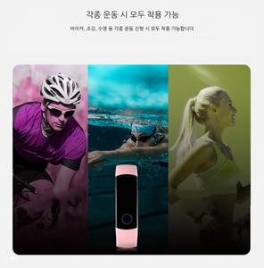 Image 5 - Смарт браслет Huawei Honor Band 4 0,95 цветной Amoled сенсорный экран для плавания 50 м водонепроницаемый датчик пульса и сна