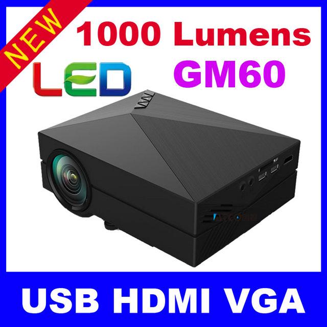 2016 1000 Lúmenes Nuevo HD TV Proyector de Cine En Casa HDMI LCD LED Juego de PC Digital Proyectores Mini Ayuda 1080 P Proyector 3D Beamer