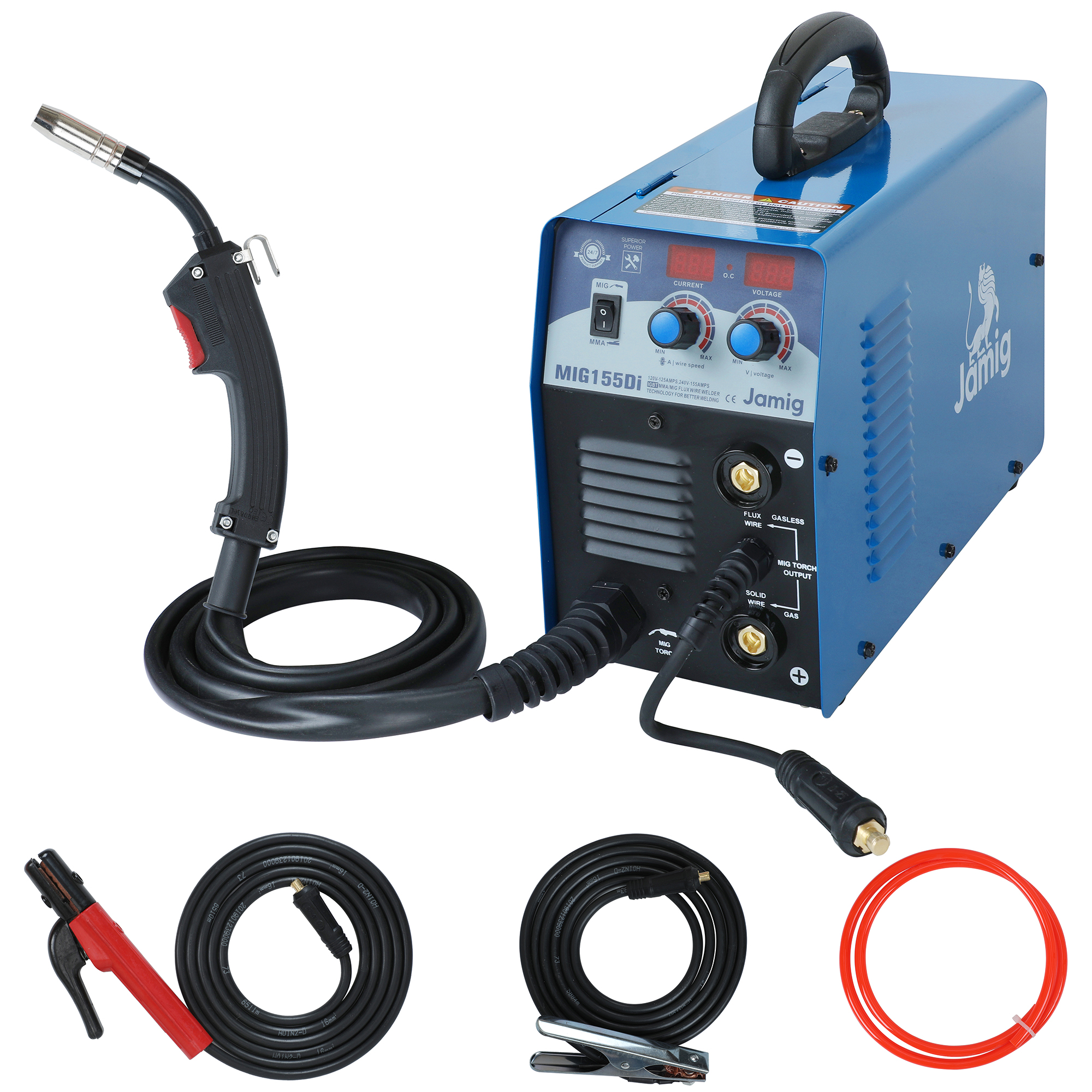 IGBT MMA/MIG/Fluxo de fio/fio Sólido Máquina de solda Dupla voltagem 110 V/220 V MIG155Di solda MIG Portátil de Solda Mig MMA