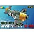 OHS Tigre Modelo 103 Q Versin Messerschmitt BF109 Asamblea de la Fuerza Aérea de Combate WWII Luftwaffe 1937-1945 Kits de Edificio Modelo