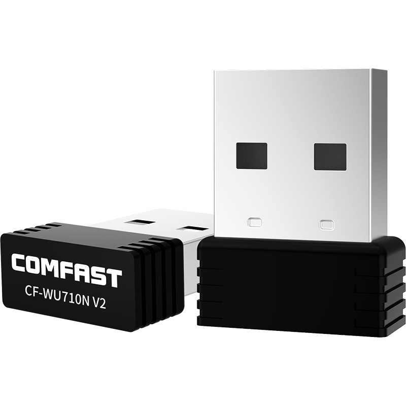 Comfast CF-WU710V2 Mini adaptador USB Wi-Fi de 2,4G Wifi dongle 150Mbps 802.11b/g/n Wifi emisor Wi antena de tarjeta de red receptor fi