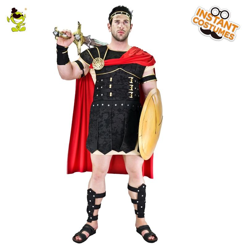 Brave Roman Gladiator Costume Halloween Carnival Adult Roman Soldier Gladiator Spartan Warrior Costumes Fancy Cosplay Clothing
