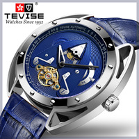 Big Watch Man 49mm Diameter Mechanical Watch TEVISE T831 Moon Phase Tourbillon Waterproof Watches Mens 2019 Wristwatches