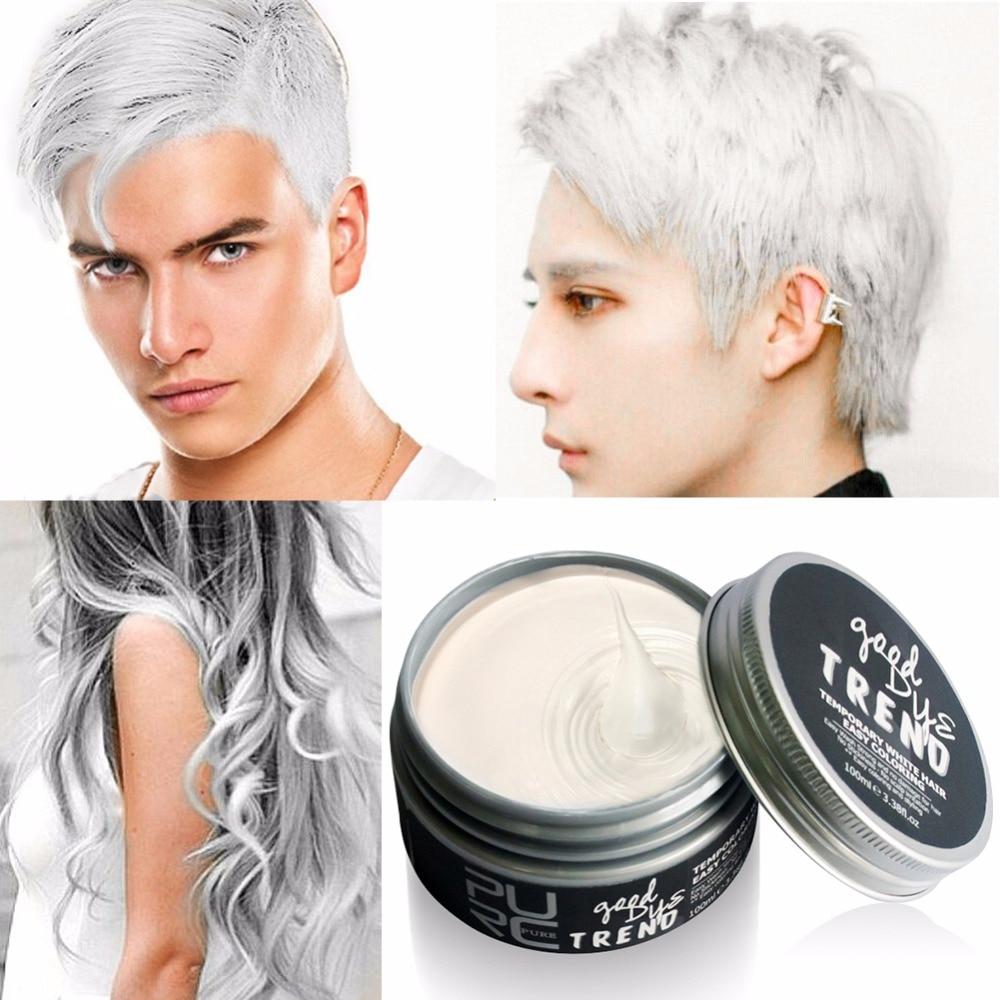 2018 Color Hair Dye Disposable Hair Wax White Purple Red Blue Grey Green Golden Hair Color Hair Dye Temporary
