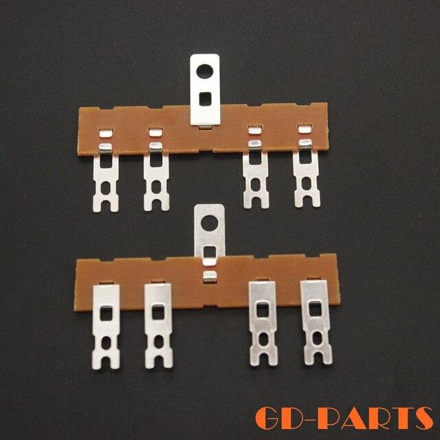 10 個 4 ポストベークライトタグストリップ端子ラグタグボードタレットボードのためのハイファイオーディオチューブアンプギターアンプ DIY プロジェクト