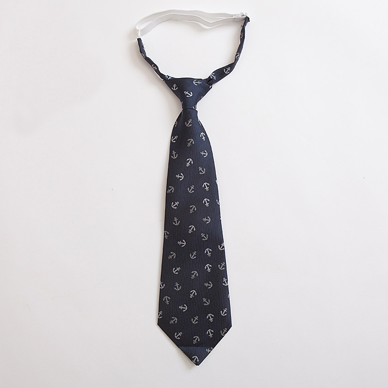 kids England british campus neck ties kids adjustable pullover tie necktie students gent blue black striped anchor corbata nino