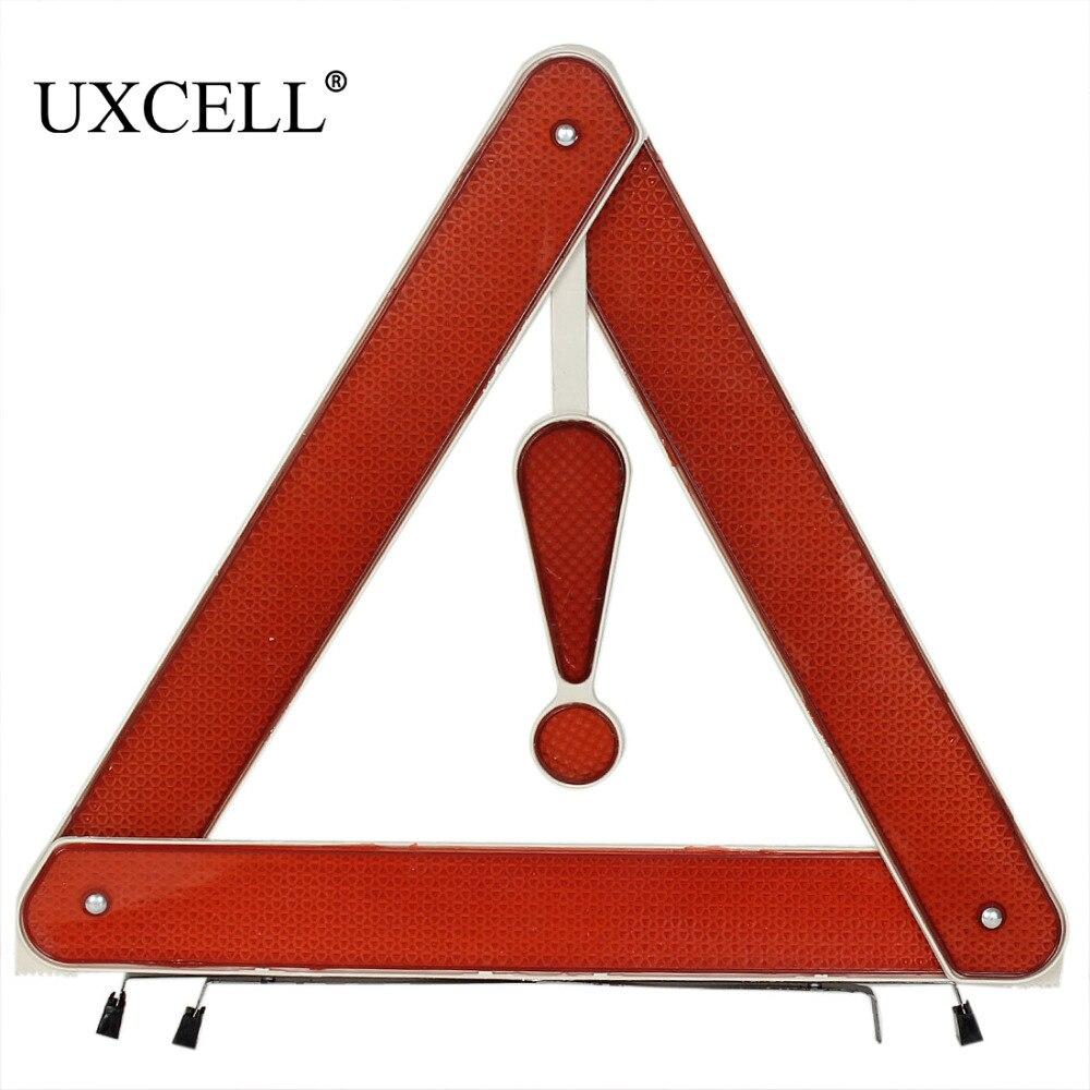 Uxcell 105x5 см/41.3x2 cm Пластик металл шоссе экстренной складной Светоотражающие парковка Треугольники предупреждение знак для автомобиля