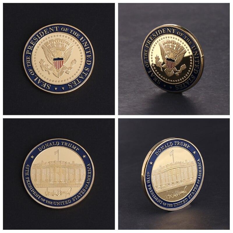 Commemorative Coin US 45th President DOnald Trump Collection Arts Gifts Souvenir
