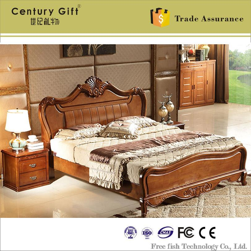 Continental nankang wood bed wood carved oak bed continental