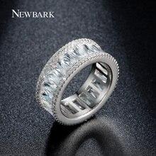 Newbark canal minimalista anillo anillos para las mujeres del oro blanco plateó tiny cz diamond anillos mujer joyería de las mujeres bijoux femme