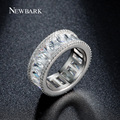 Newbark canal minimalista anel anéis para as mulheres brancas banhado a ouro minúsculo cz diamante mulheres jóias bijoux anillos mujer femme